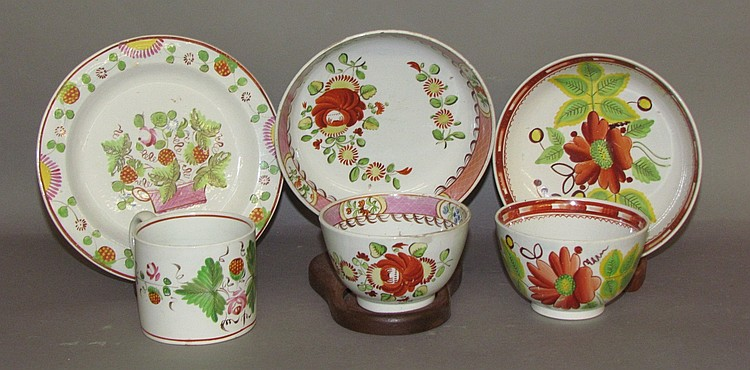 Group of English pearlware
