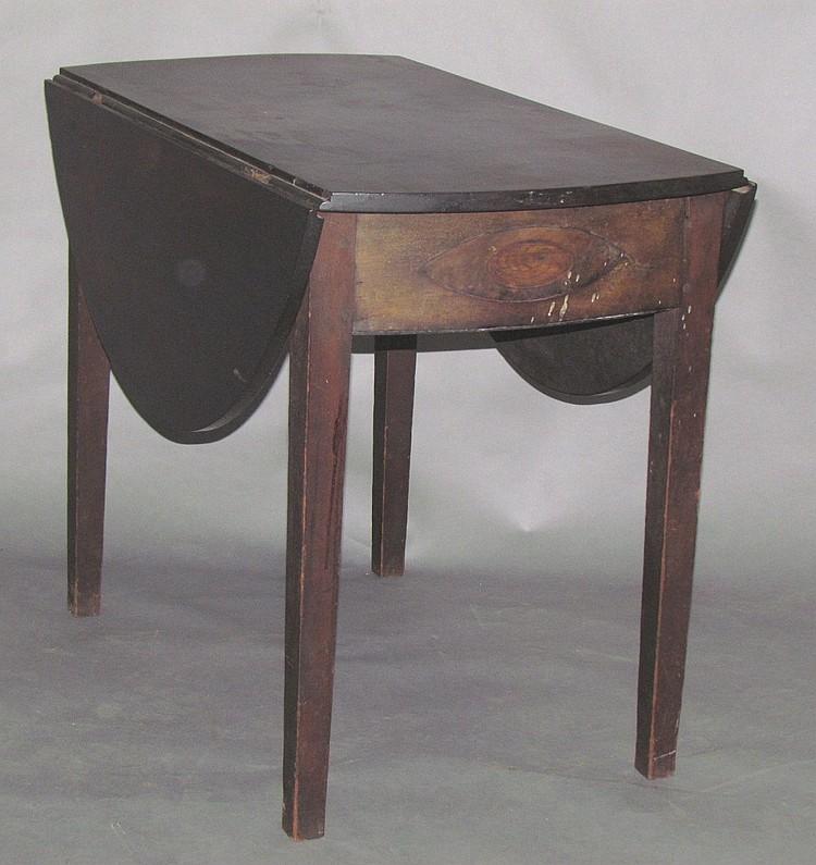 Signed dropleaf table