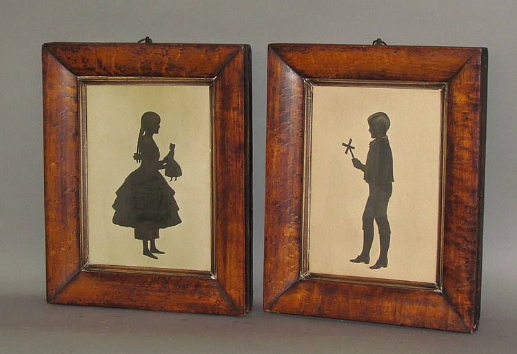 Pair of framed sillhouettes
