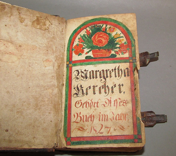 """German Script Martin Luther's """"New Testament"""" with bookplate"""