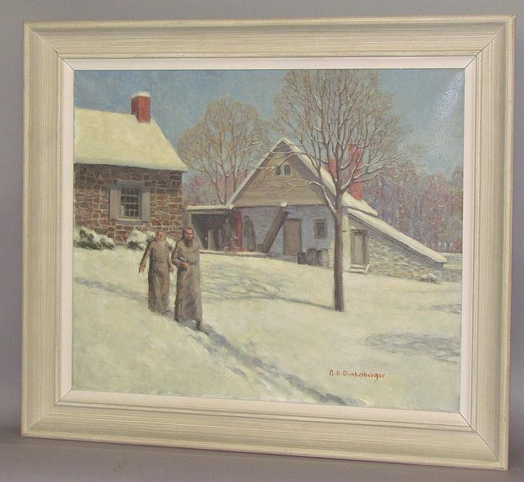 Ralph D. Dunkelberger oil on canvas