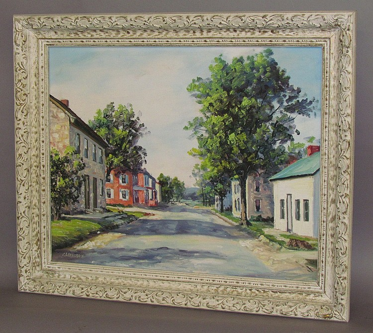 Clarence Ira Dreisbach oil on board