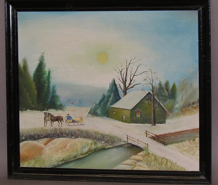 Folk art painting