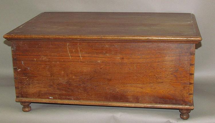Walnut Bible box on turned feet