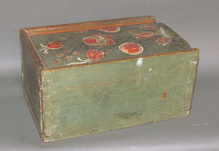 Paint decorated slide lid box