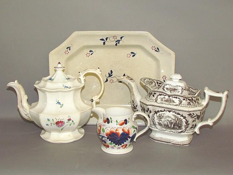 4 miscellaneous English earthenware items