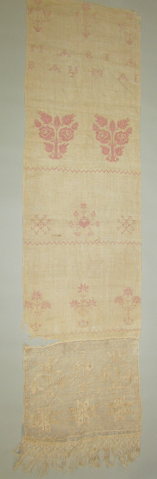 Early full length show towel by Maria Bauman