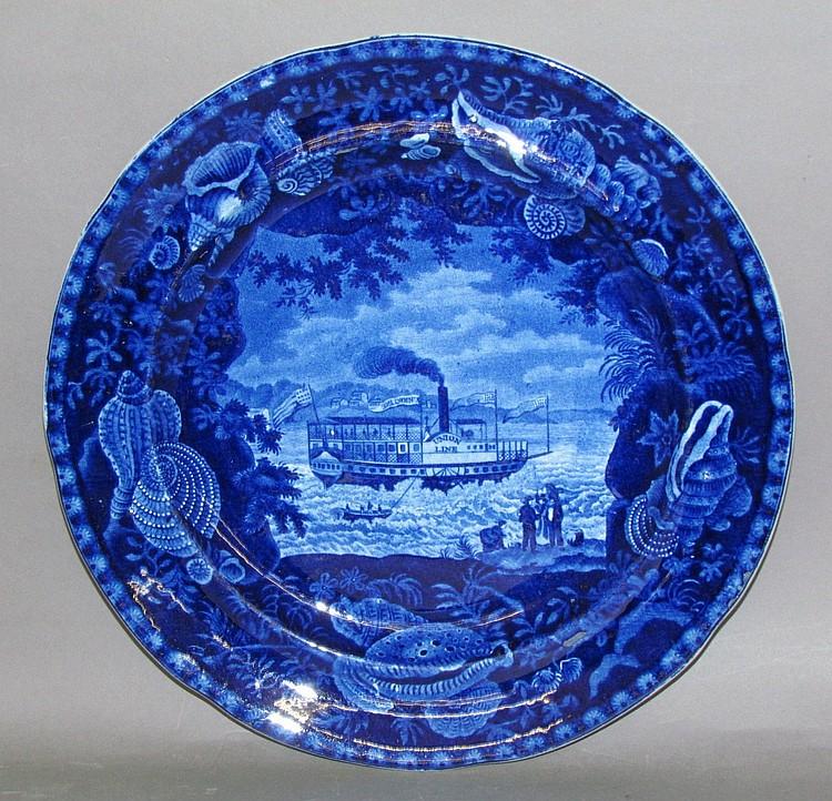 """Historic Blue plate """"Union Line"""""""
