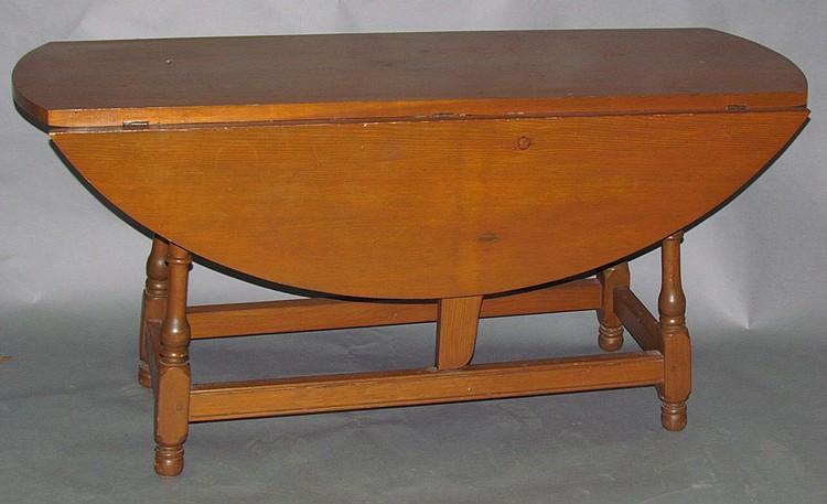 Walter Steely dropleaf farm table