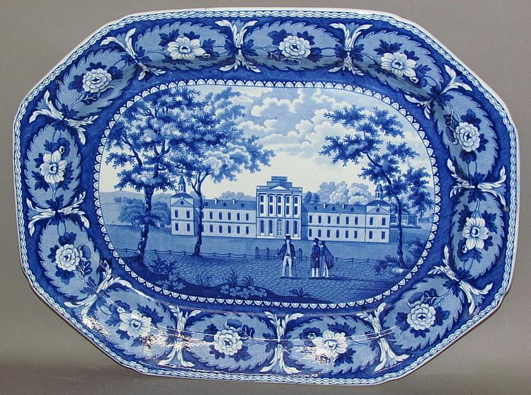 Historic Blue platter of Pennsylvania Hospital Philadelphia