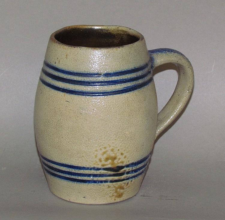Cobalt decorated stoneware mug