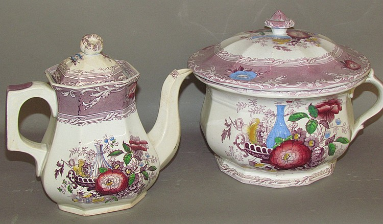 2 pieces of English ironstone, Excelsior by G. Wooliscroft