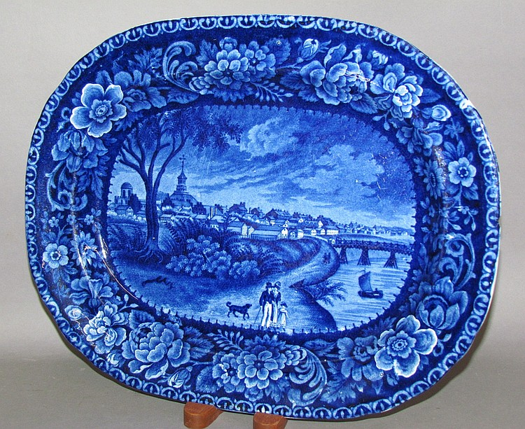 Historic Blue oval Columbus, Ohio platter
