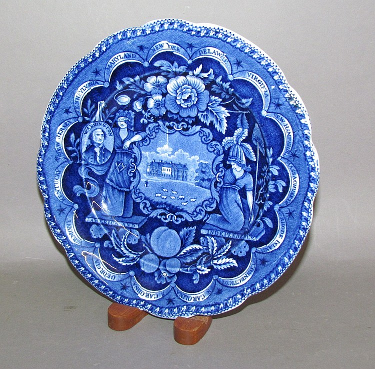 """Historic Blue plate """"States"""""""