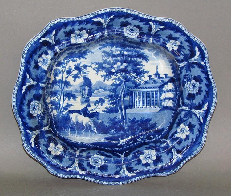 Historic Blue Mount Vernon vegetable dish