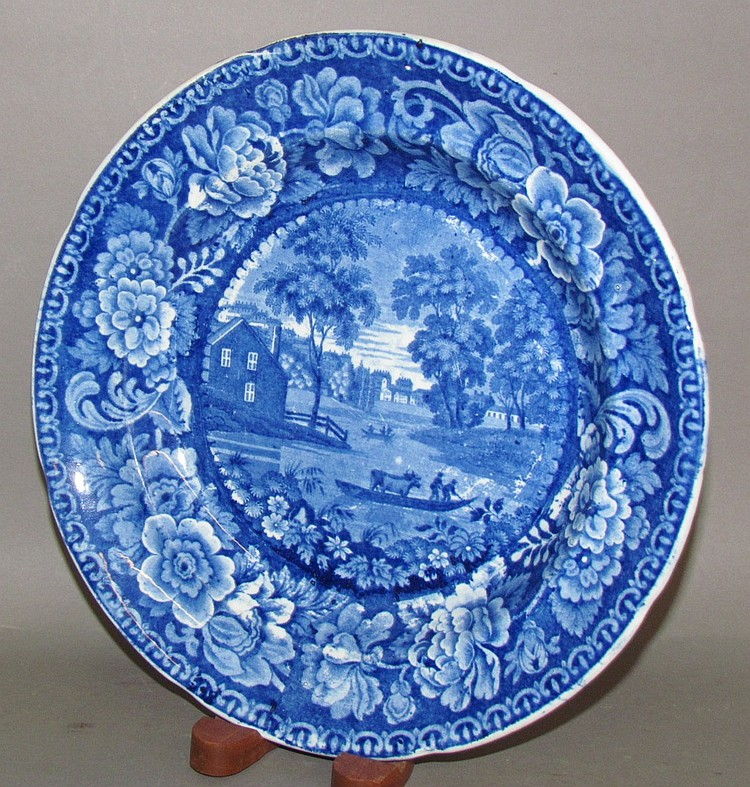 Historic Blue Albany dish