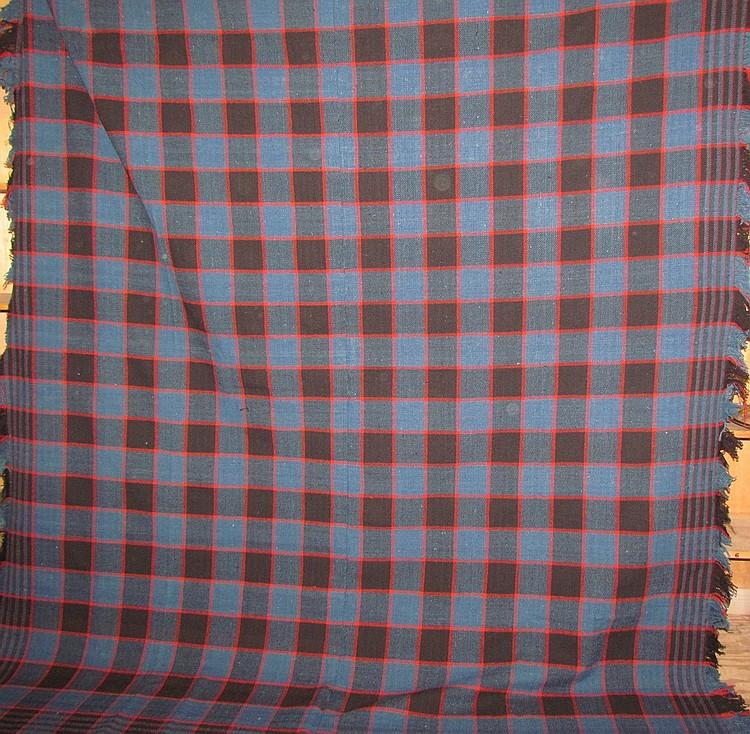 Twill-weave wool coverlet