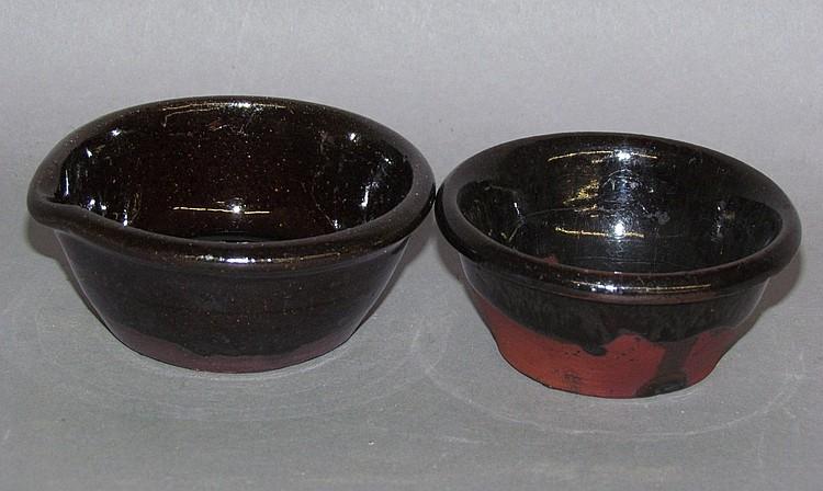 PA miniature redware items