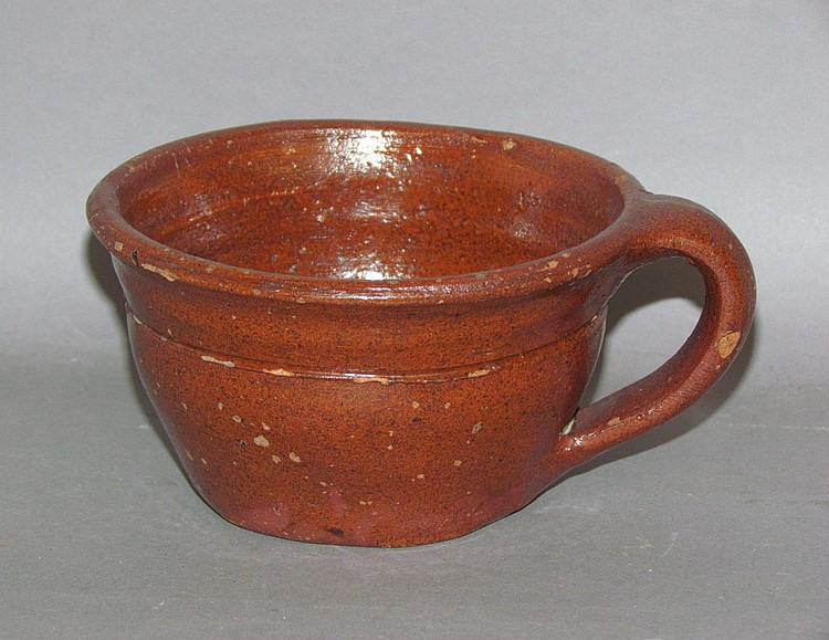 PA redware cup