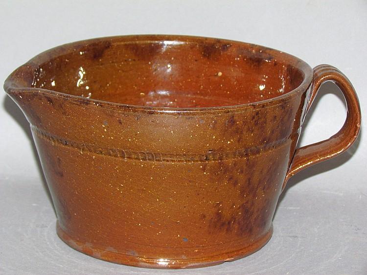 PA redware pouring bowl