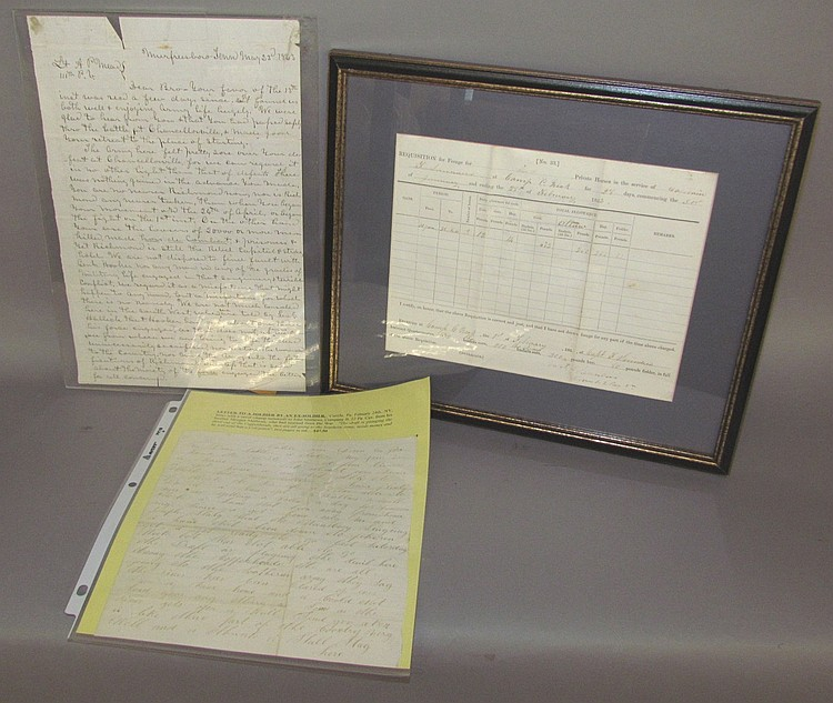 3 documents related to Civil War