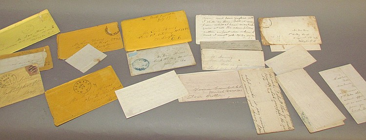 Pack of approx. 18 Civil War Era letters