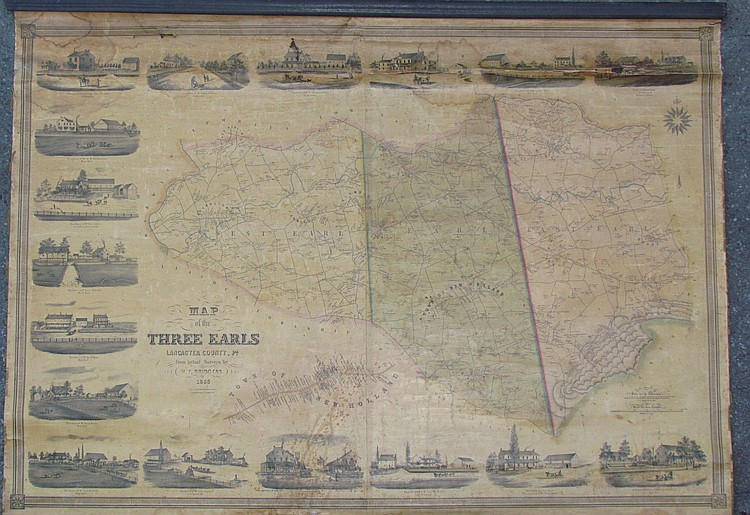 3 Earls of Lancaster Co., PA schoolhouse map