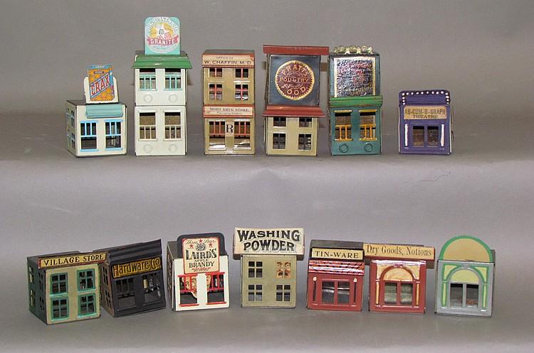 Lithograph tin building set