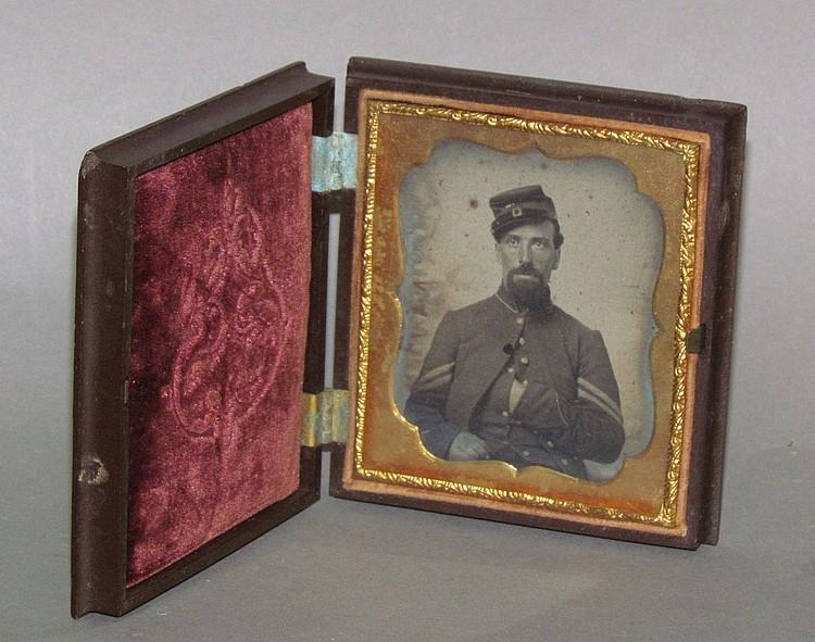 Union soldier daguerreotype photo