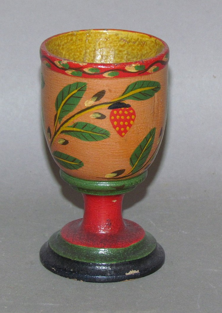 Lehnware footed egg cup