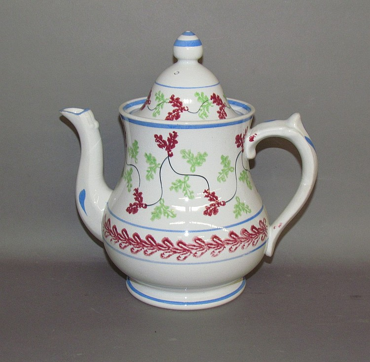 English earthenware covered teapot