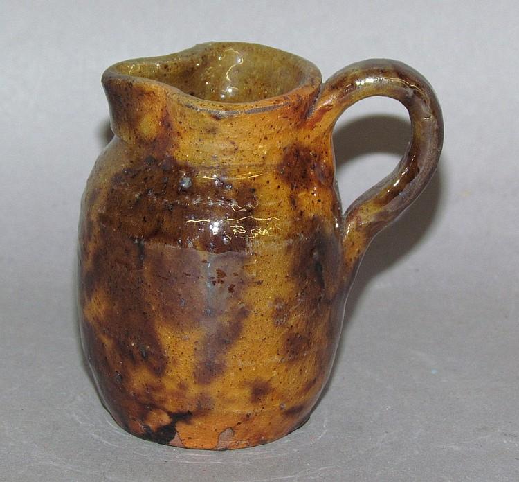 PA miniature redware pitcher