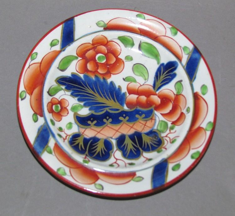 English pearlware Gaudy Dutch war bonnet cup plate