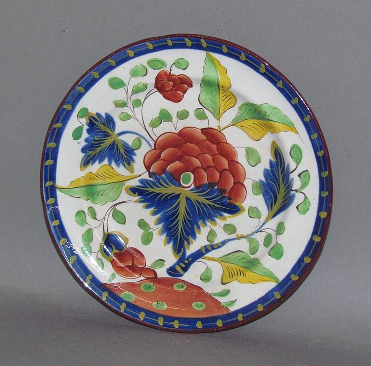 English pearlware Gaudy Dutch grape toddy plate