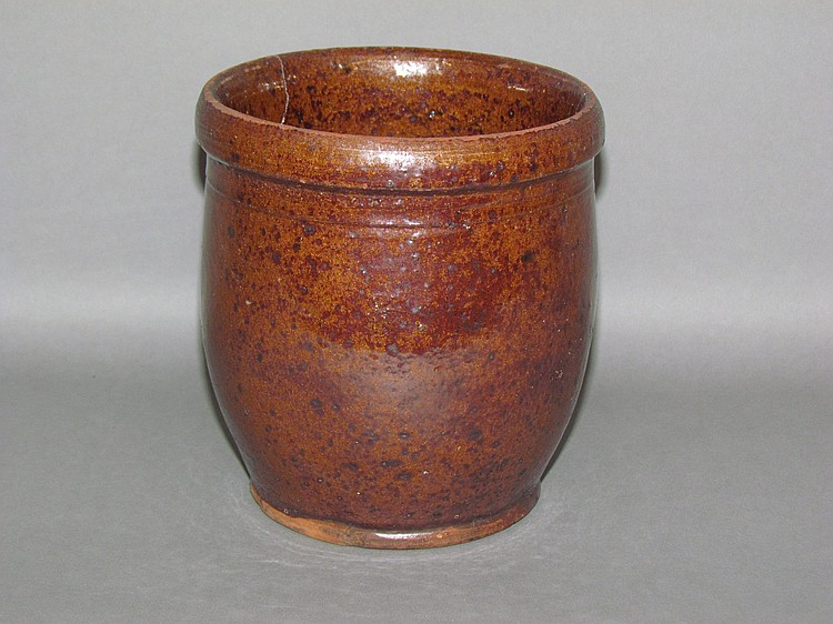 PA Willoughby Smith redware jelly jar