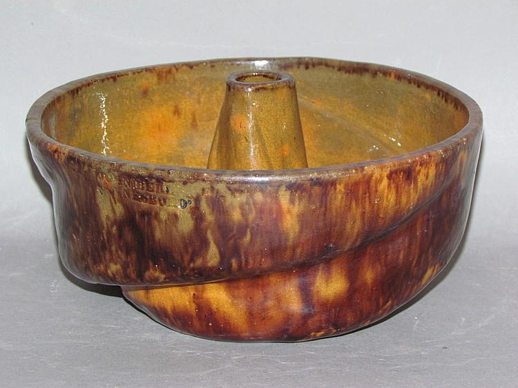 John Bell redware Turkshead food mold