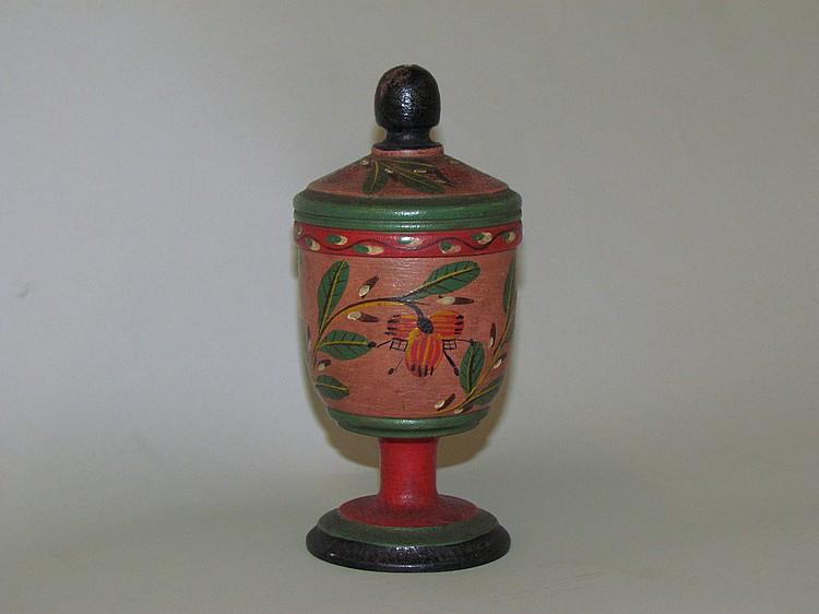 Lehnware covered saffron box