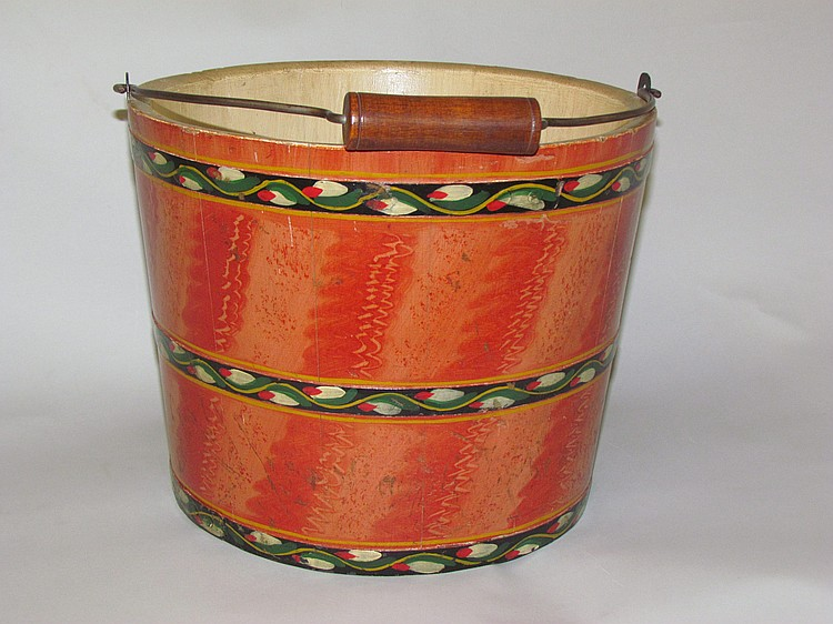 Lehnware water bucket with loose handle