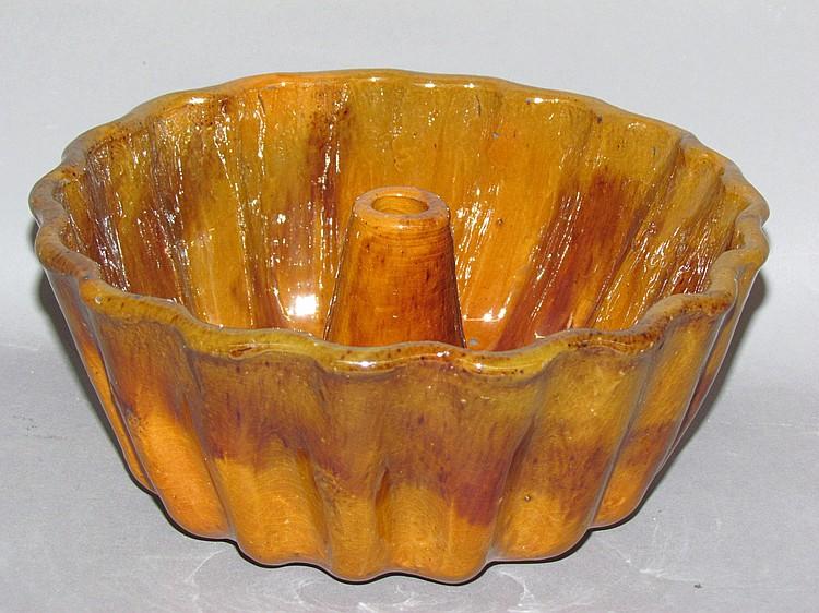 PA redware Turkshead food mold