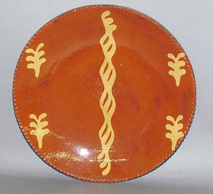 PA slipware plate