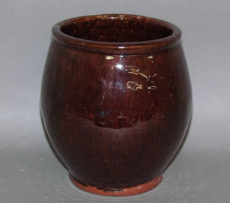 PA redware jelly jar