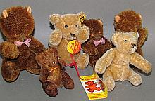 6 miniature teddy bears