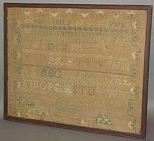Framed scripture sampler