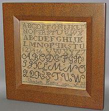 Elisabeth Hooton framed sampler