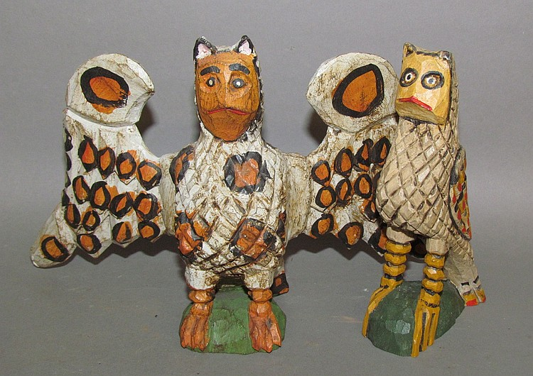 2 D&DS; folk art carvings