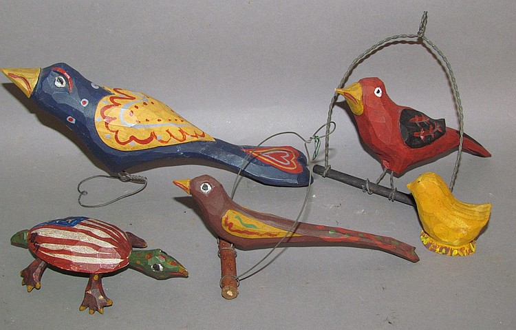 5 Jonathan Bastian folk art carvings
