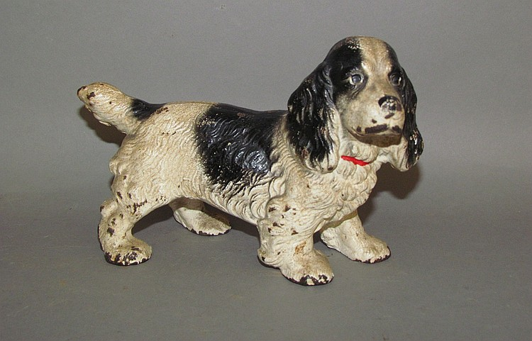 Hubley cast iron Spaniel bookend