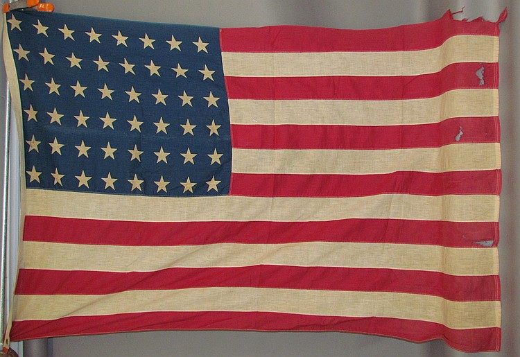 Lot 119: (2) 48 star flags
