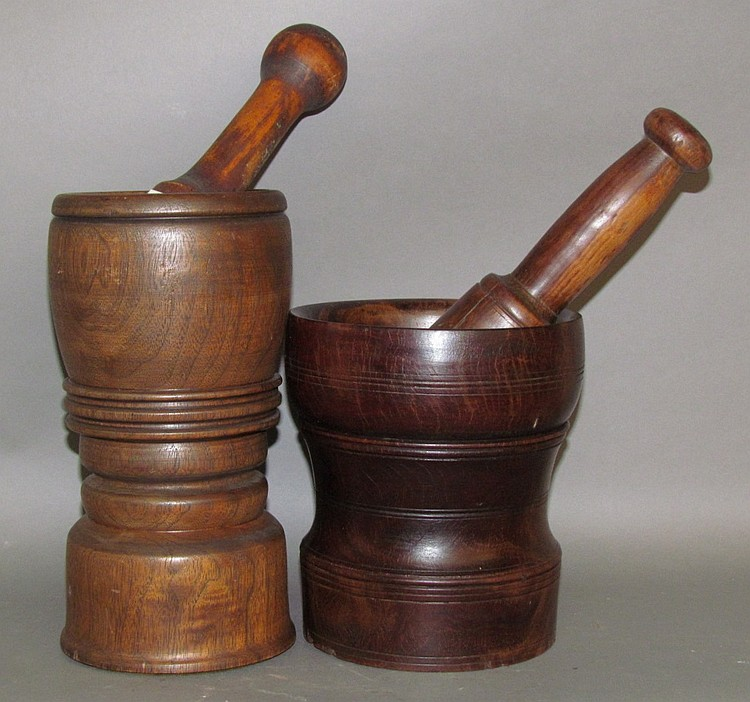 2 mortars & pestles