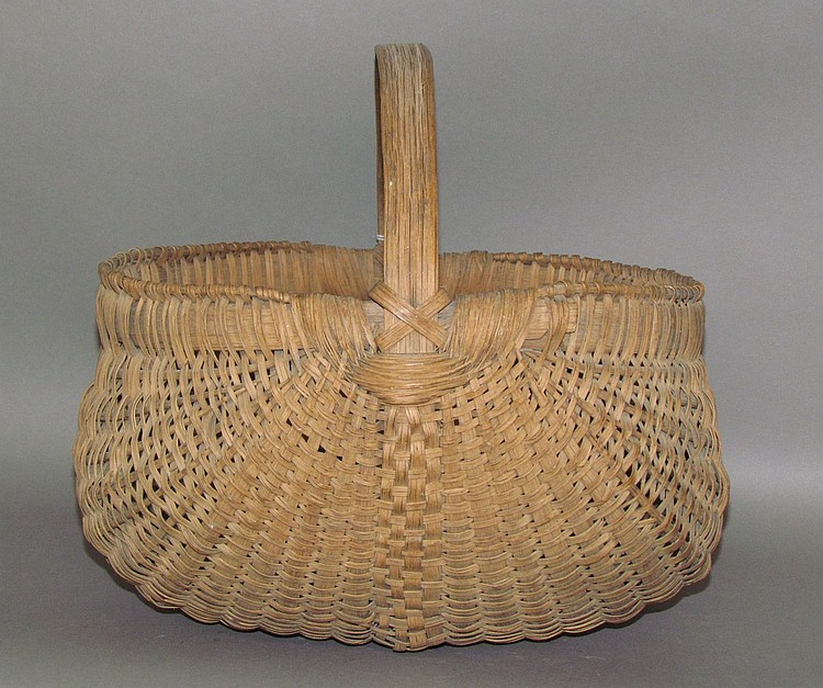 "Broad oak splint ""orschbok"" gathering basket"